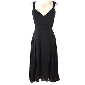 Anthropologie Elevenses Black Dress sz 2